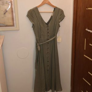 Altar'd State Button Front Dress
